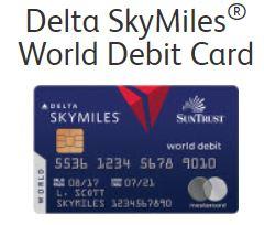It's back! The Delta/Suntrust Debit Card