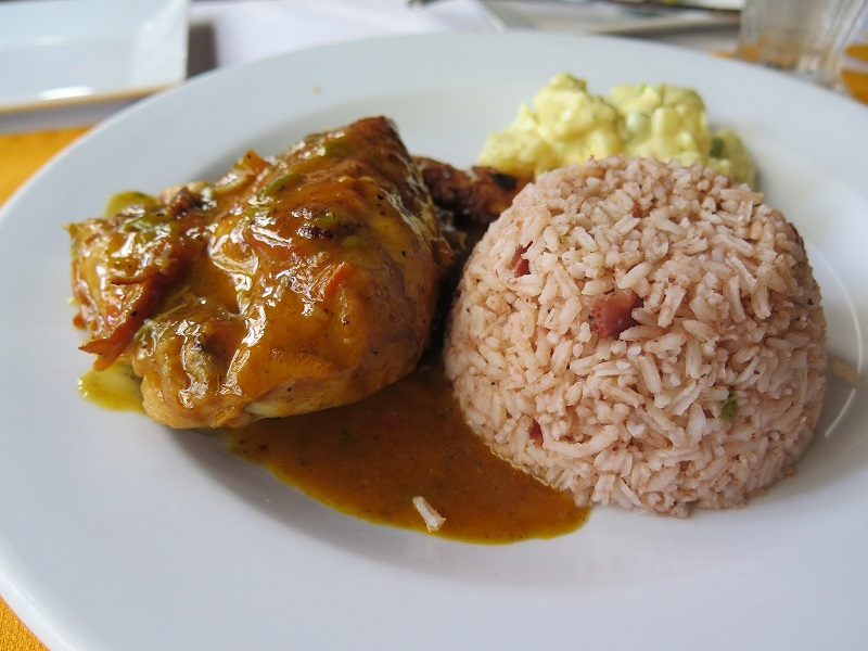Placencia – My Favorite Recipe – Stew Chicken with Rice and Beans
