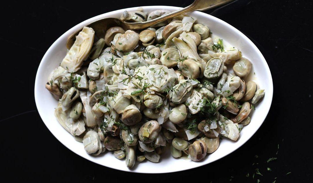 Santorini – My Favorite Recipe – Aginares me Koukia
